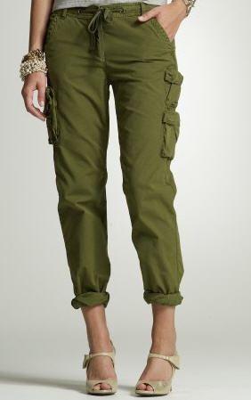 cute ladies green cargo pants