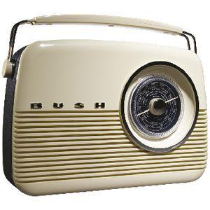 BUSH DAB+ Retro Style Digital Radio with AM/FM/LW White - BEST PRICE HERE