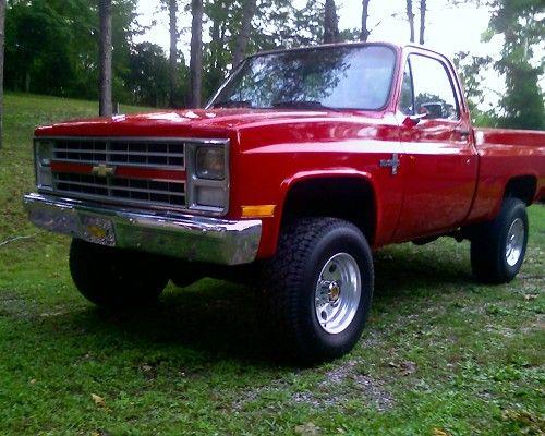 84 chevy silverado | 1984 Chevrolet silverado $7,500 Possible Trade - 100402352 | Custom ...