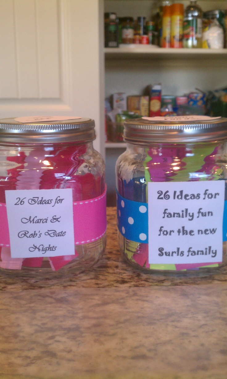 Wedding Gift Ideas Blended Family : families wedding activities gift jars date nights fall wedding ...