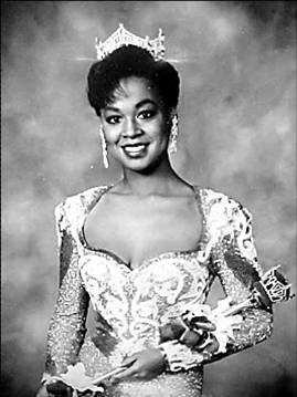 Marjorie Vincent, Illinois, Miss America 1991.  First Miss America of Haitian descent and first consecutive black Miss America winners.