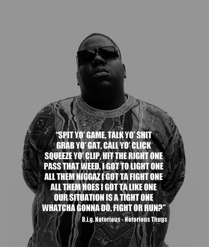Biggie Smalls Best Quotes: 17 Best Rap Song Quotes On Pinterest