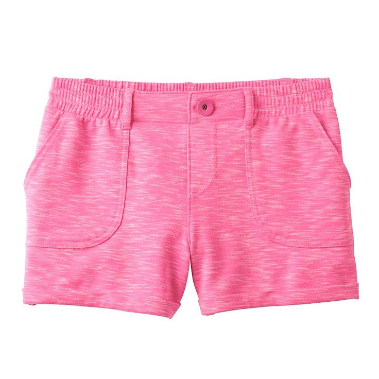 Girls 7-16 SO® French Terry Slubbed Soft Shorts, Girl's, Size: 12, Brt Pink