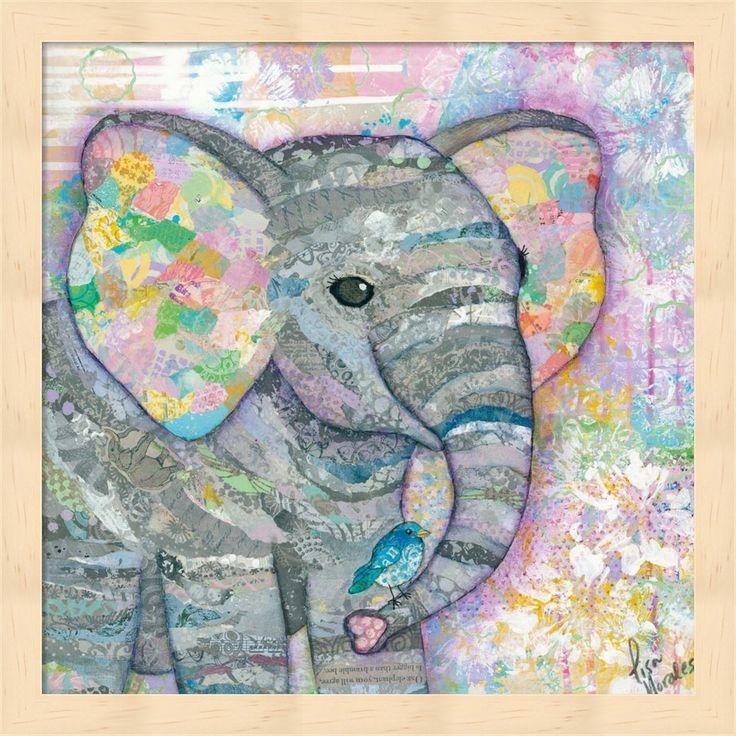 Lisa Morales 'Sweet Baby Elephant I' Framed Art