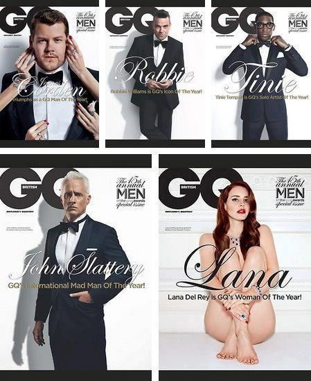 This is why I need feminism - Another GQ reminder. Why is she naked and the men fully clothed? What purpose does it serve here?