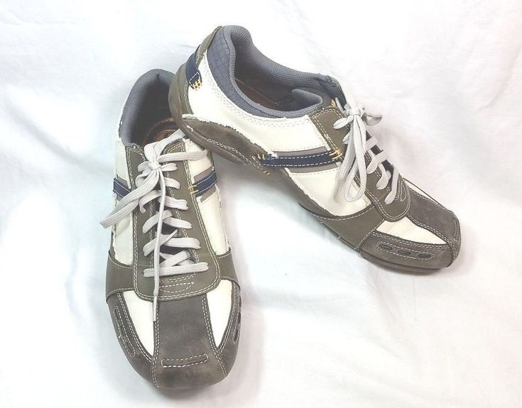 Skechers 61160 Expressed Derest Relaxed Step Gray Blue Sneakers Mens Size 12 #Skechers #FashionSneakers