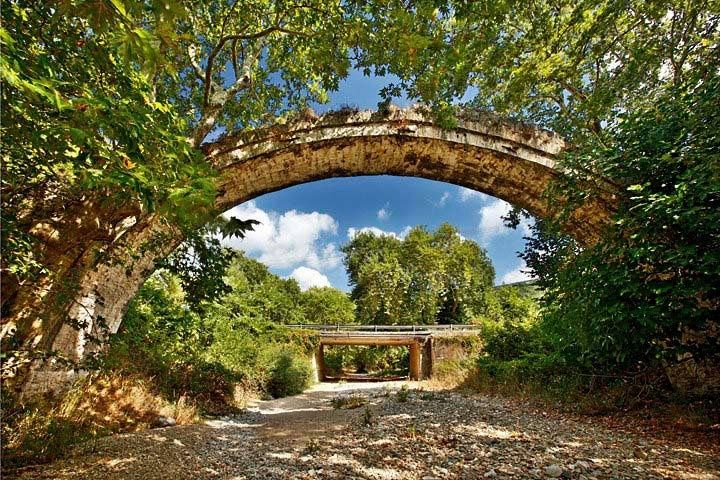 old bridges Greece | old stone arched bridge, close to Aghia. Larissa, Thessaly, Greece ...