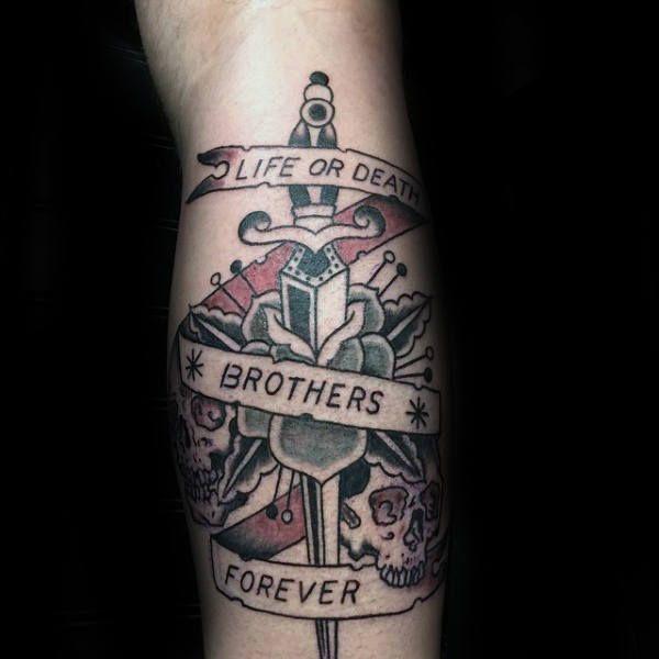 Best 25 leg tattoos for men ideas on pinterest best leg for Tattoo for dead brother