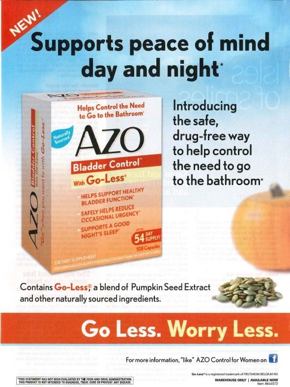 Azo Bladder Control Pills Are As Good As A Placebo Pill
