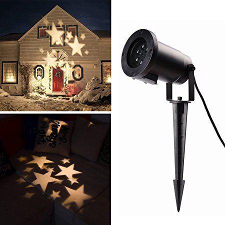 Popular Salcar LED Effektlicht mit warmwei en Sternen dynamische Motive Gartenleuchte LED Sternenhimmel Projektor Mauer