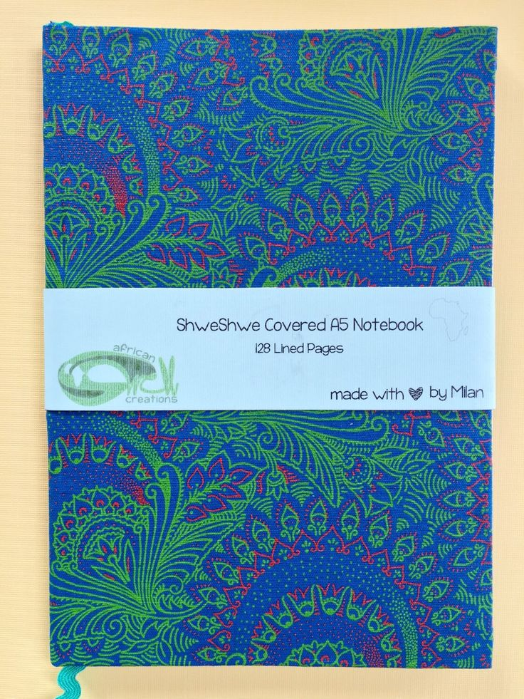 A personal favorite from my Etsy shop https://www.etsy.com/listing/262054708/blue-floral-shweshwe-a5-notebook