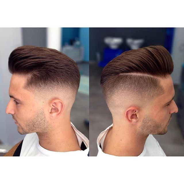 side part pompadour from sides