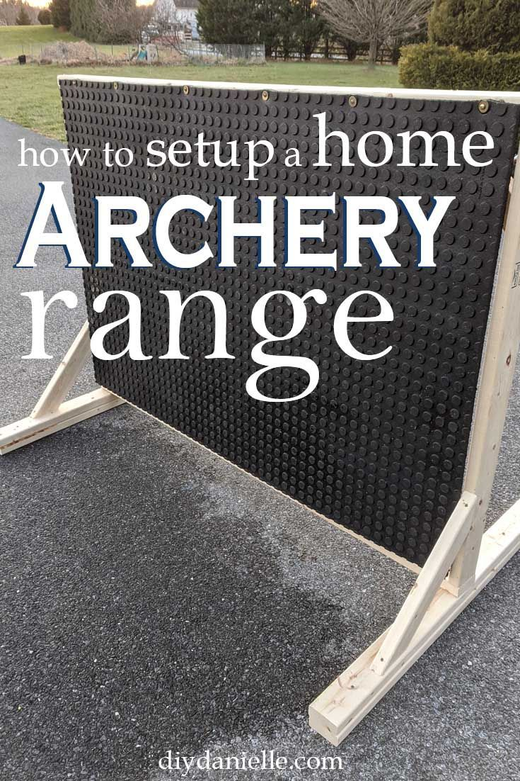 Diy Archery Backstop For A Home Archery Range Archery Range Archery Training Archery Target Diy backyard archery range