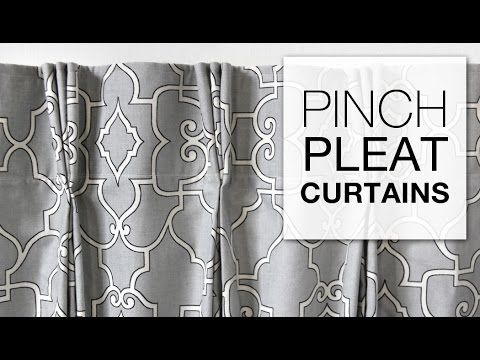 This sewing tutorial shows you how to make drapes with pinch pleats (French pleats) using pleater tape and hooks. These curtains are a great option if you're...