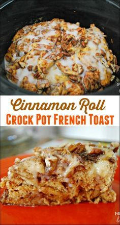 I made this cinnamon roll crock pot french toast for brunch and it tasted AMAZING! So easy to make and loved by all. Will be making it again for sure!