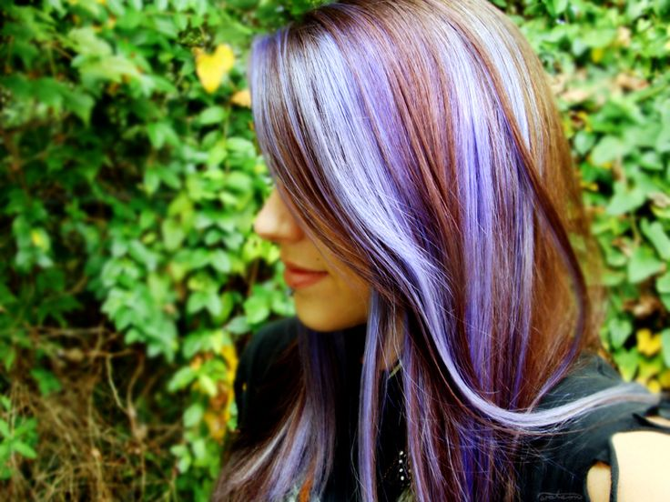 frolicingintheforest:  For a girl who wears mostly black, I sure have colorful hair! haha