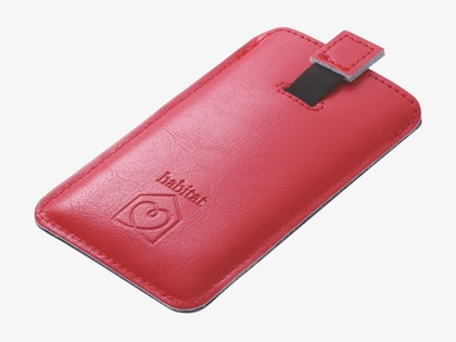 FOLIO ΔΕΡΜΑΤΙΝΗ ΘΗΚΗ IPHONE RED  13,5 € #habitatgr