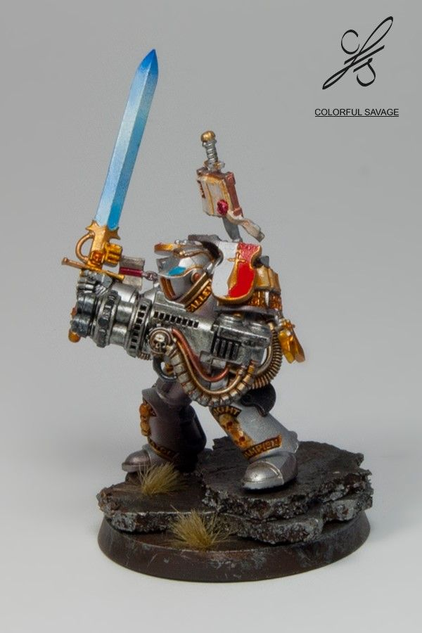 Grey Knight with Nemesis falchion and psilencer by Colorfulsavage.deviantart.com on @DeviantArt
