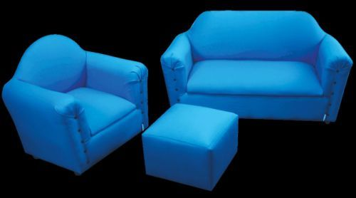 Children's Lounge Suite (2 x Chairs, 1 x Lounge, 1 x Ottoman) - FREE DELIVERY