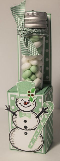 Snow Place Tic Tac Favour from Stampin' Up! UK Demonstrator Sarah Poulton…