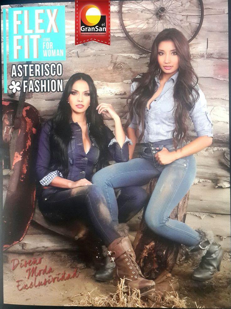 Asterisco Fashion lanza su nuevo catálogo FLEX FIT para mujeres, con una gran variedad de diseño y calidad.  Encuéntrala en los locales -1068,- 2068.   #ColombianoCompraColombiano  #SoyCapaz de creer en mi país!  #GranSan