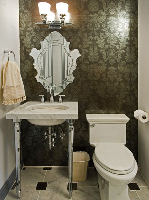 black damask bathroom tiles ideas and pictures