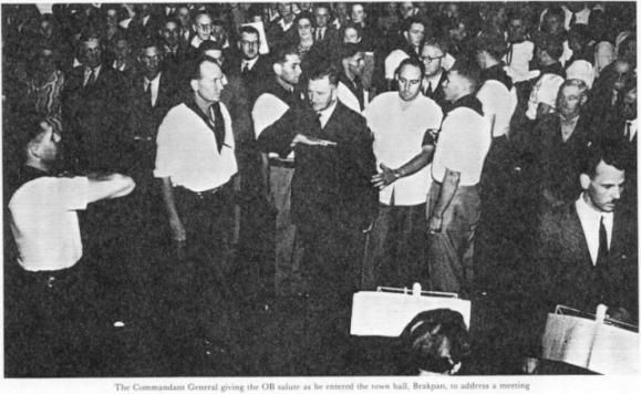 "Leader of the Ossewa Brandwag Johannes Frederik Janse van Rensburg - This Day in History: Mar 4, 1939: The """"Ossewabrandwag"" is founded in South Africa http://dingeengoete.blogspot.com/"