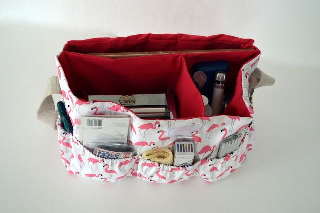 Cómo hacer un bolso con compartimentos   Tutoriales de manualidades. El Rincon…