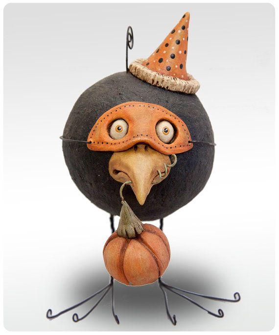 Chicken Lips Folk Art  :) Halloween for a crow