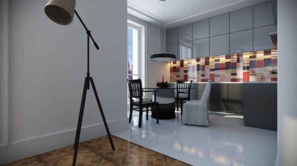 modern kitchen backsplash glass tiles multicoloured design