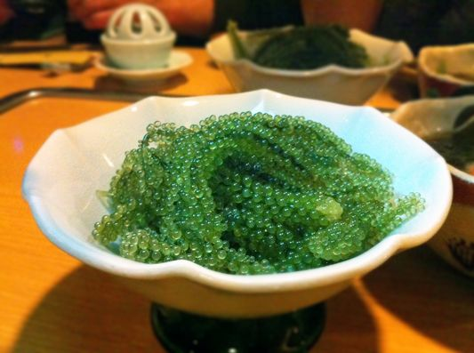Umi Budo - Caviar for Vegetarians (Sea Grapes). An article on Okinawan food. GREAT article. Gorgeous photos.