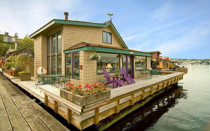 The 62 best images about houseboats on pinterest lakes floating homes and seattle - Floating house seattle ...