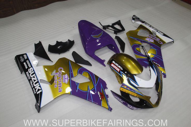 2004-2005 GSXR-600 750 Purple & Gold Corona Fairings