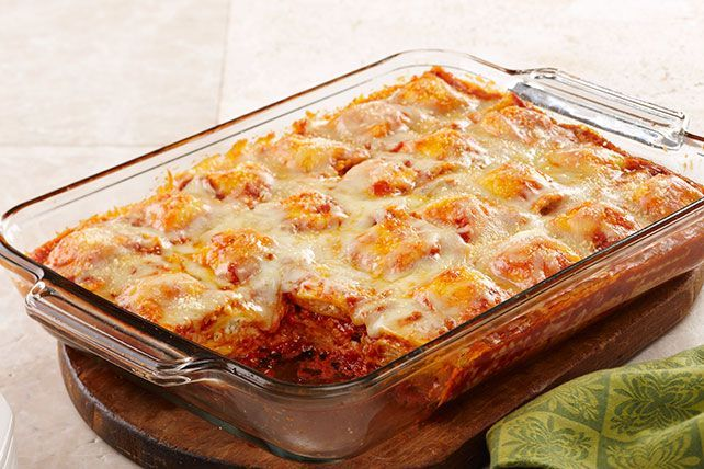 Combine layers of frozen ravioli for this Baked Ravioli for Weeknights. This ravioli bake is easy to assemble on even the busiest of weeknights!