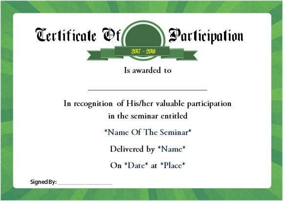 Best 25+ Certificate of participation template ideas on Pinterest - example of certificate of completion
