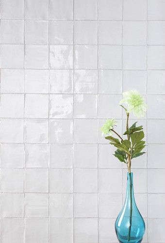 Provenza Craquele Blanco white textured crackle glaze gloss tile