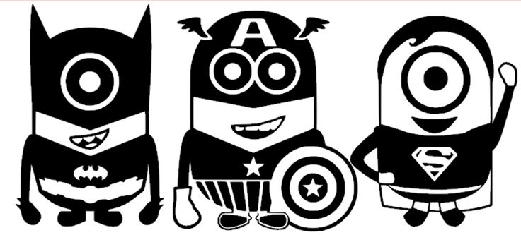 "Free Giveaway: A set of three super hero Minions (superman, capt America, batman).  Total size 12""x24"" One color only.   Enter Here: http://www.giveawaytab.com/mob.php?pageid=235092426609027"