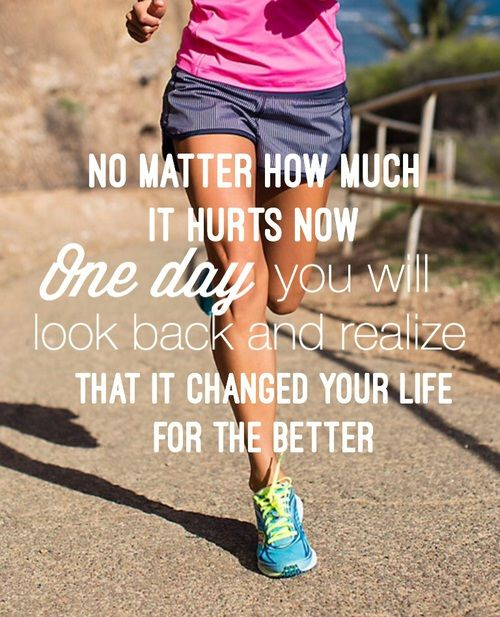 """in-pursuit-of-fitness: """"Change your life for the better! """""""