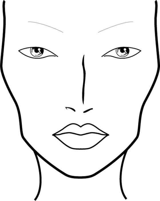 Blank Face Charts - Quoteko.com