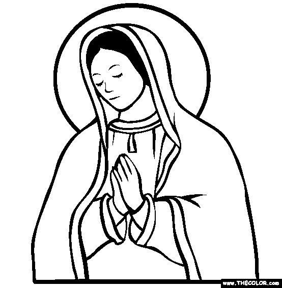lady of guadalupe coloring pages - photo#25