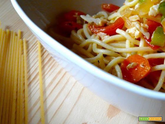 Spaghetti con nasello  #ricette #food #recipes
