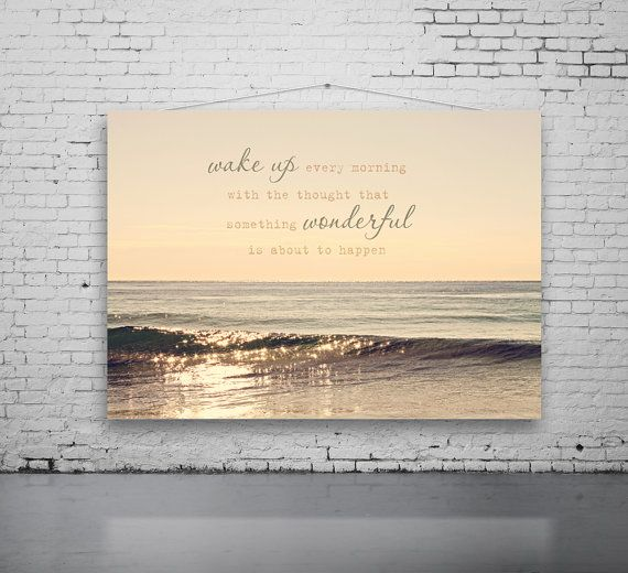 Beach and Quote Photography Sunrise Quote by PhotographyByAnita