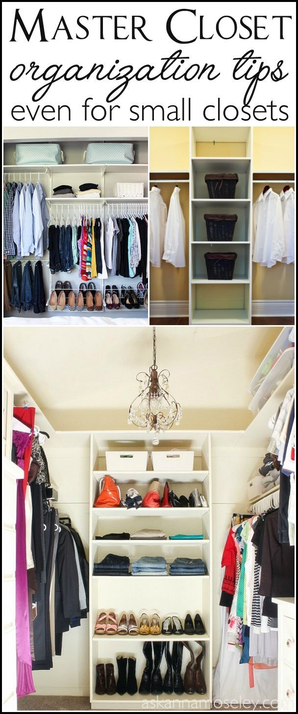 How to Organize the Master Bedroom Closet