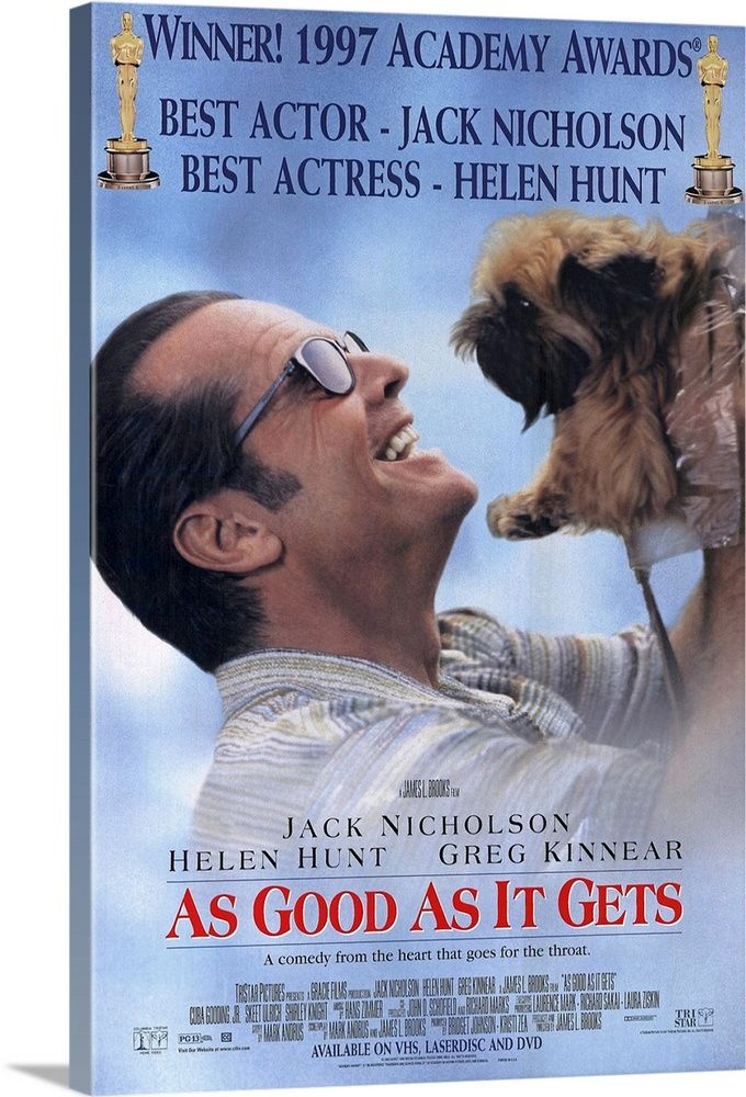 As Good As It Gets 1997 In 2021 Movie Posters Get Movies Jack Nicholson