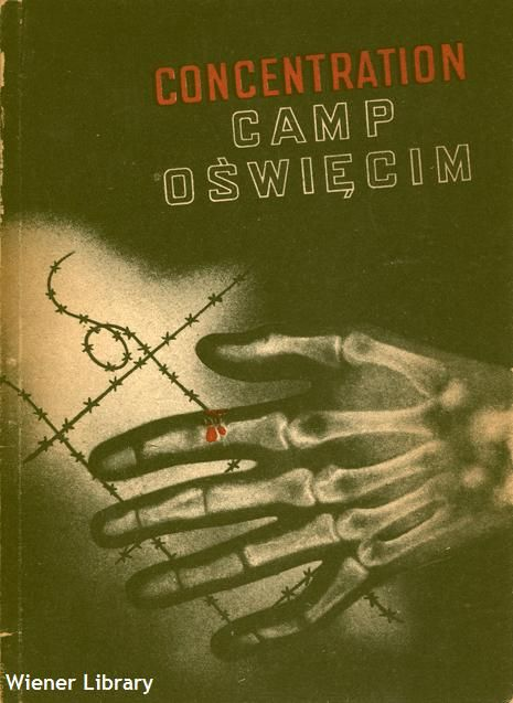 Pamphlet: Cover of a 1955 pamphlet about Auschwitz Concentration Camp.