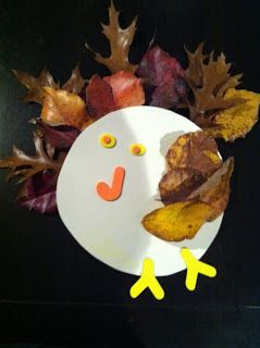 My Mamalicious Journey: Fall Toddler Crafts – Why Rake When You Can Make Leaf Turkeys