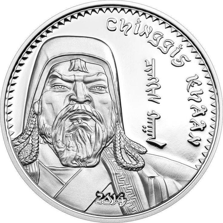 1 Unze Silber Dschingis Khan 2014 Mongolei 1000 Togrog