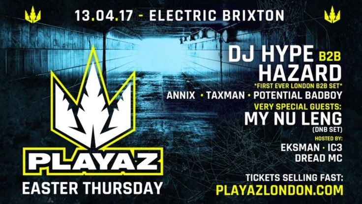 Playaz London Takeover: On Easter Thursday 13th April, Playaz is back, featuring an exclusive back-to-back set from DJ Hype and DJ Hazard,…