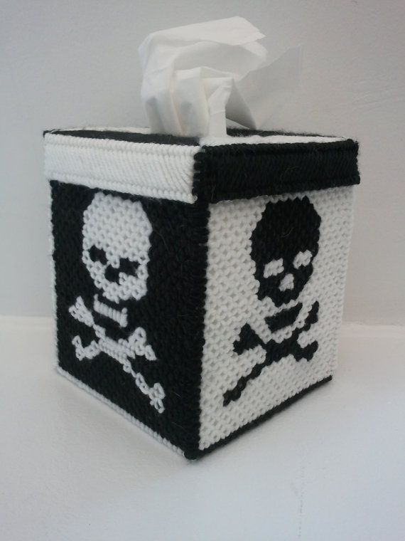 17 best images about plastic canvas skulls on pinterest for Tissue box cover craft