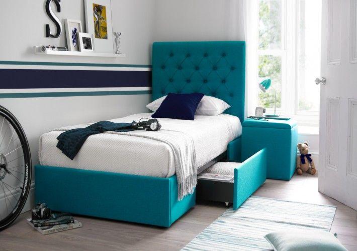 Skye Teal Drawer Bed
